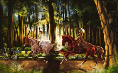 Dancing Between the Trees by Rosela