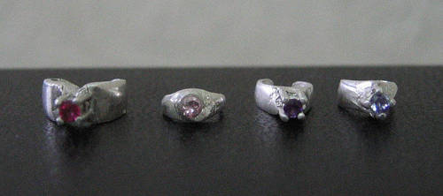 4 silver rings for BJDs by The-Arkadian