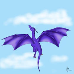 Purple Dragon  by The-Arkadian