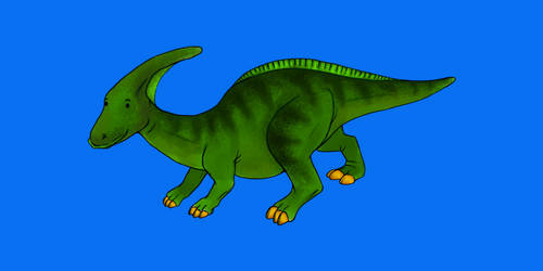 Parasaurolophus by The-Arkadian