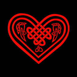 Black and Red Celtic Heart by The-Arkadian