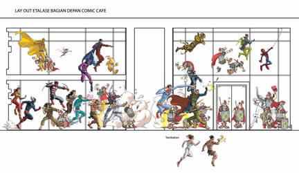 Etalase Depan Comic Cafe by arivrussanto