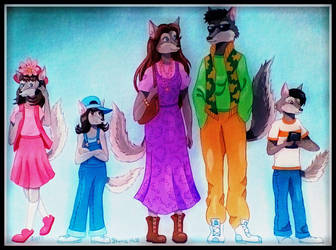 1990's Wolf Family by FlapperFoxy