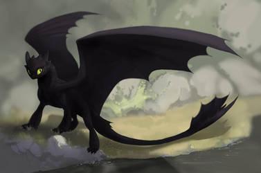 The night fury by Orphen-Sirius