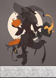 Halloween freeline by Orphen-Sirius