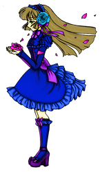 COLORED Gothic Lolita Line Art by sererena by Amami-1