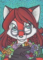 ACEO Request: Vixina by cyberhare