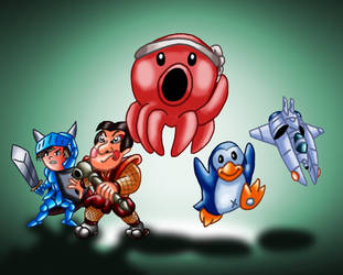 Parodius - The Octopus save the Earth by eriscorps