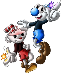Cuphead and Mugman by eriscorps
