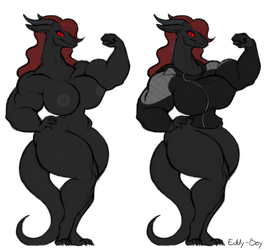 Eddyboy: Jacketed Dragoness by XennyDiemes