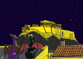 A night in Athens. by fantasiaart93