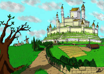 Castle in the Hills. by fantasiaart93