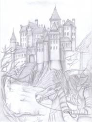 Castle in the Mountain by fantasiaart93