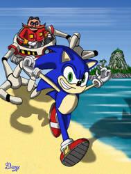 Sonic the Hedgehog by fantasiaart93
