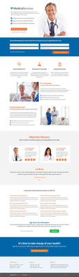 Medical Landing Page by themeinjection