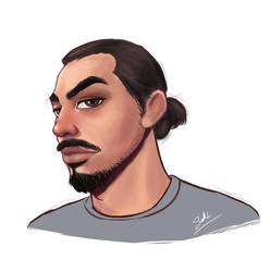My husband's portrait by SUKING