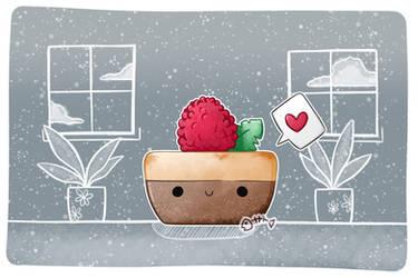 .: Day 014 :. Berry mini cheesecake by PlushieLemon