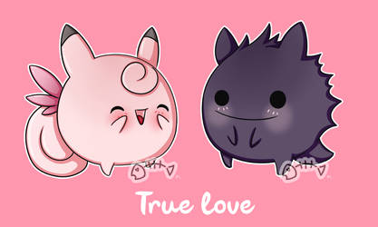 .: Day 019 :. Clefable + Gengar by PlushieLemon