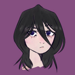 A Headshot Doodle Of Rukia by exziiie