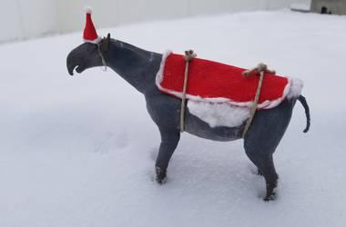 A Christmas paraceratherium by zachrobinson