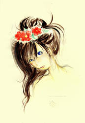 blue-eyed girl by PLlNs