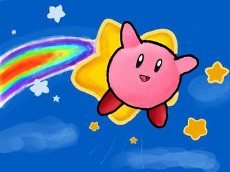 Kirby and Rainbow by 53rdturtle