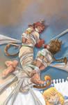 Fantasy Frontier Sketchbook 5 cover :D by lostonezero