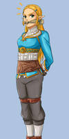 Princess Zelda BotW by lostonezero