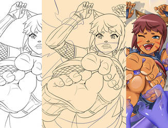 Afterland Tales #2 Illustration making of - Akisu by lostonezero