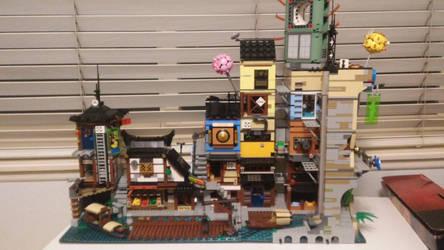Ninjago City and Docks by markzilla6895