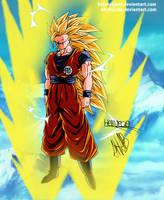 Goku ssj3 (Gift) by HelvecioBNF