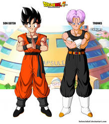 Goten e Trunks 14 years DBA by HelvecioBNF