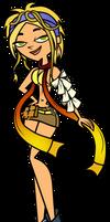 Cosplay Commission - Bridgette as Rikku by EvaHeartsArt