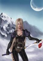 IceWind Dale warrior portrait by indigoblue86
