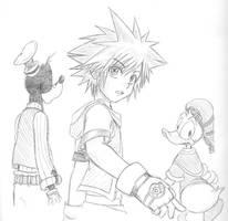 Sora and Friends by HaganeNoChibiSan