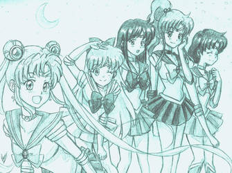 Pretty Sailor Soldiers by HaganeNoChibiSan