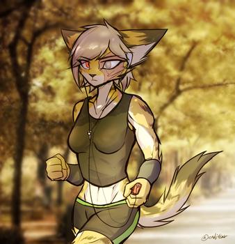 Autumn Jog by oLEEDUEOLo