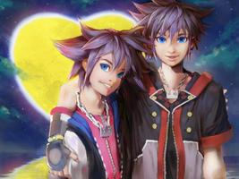 Sora And Sora Kingdom hearts by afroad