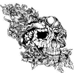 Filligree skull by MasterHoff