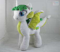MLP: FiM Emerald Fire Plushie by LiLMoon