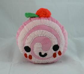 Pink Swirl Cake Plushie by LiLMoon