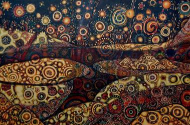Acrylic on Canvas 5 by kschaman
