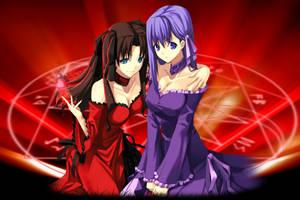 Rin and Sakura by WolfieeD