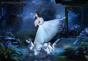 The Graceful Dance of Swans by FrozenStarRo