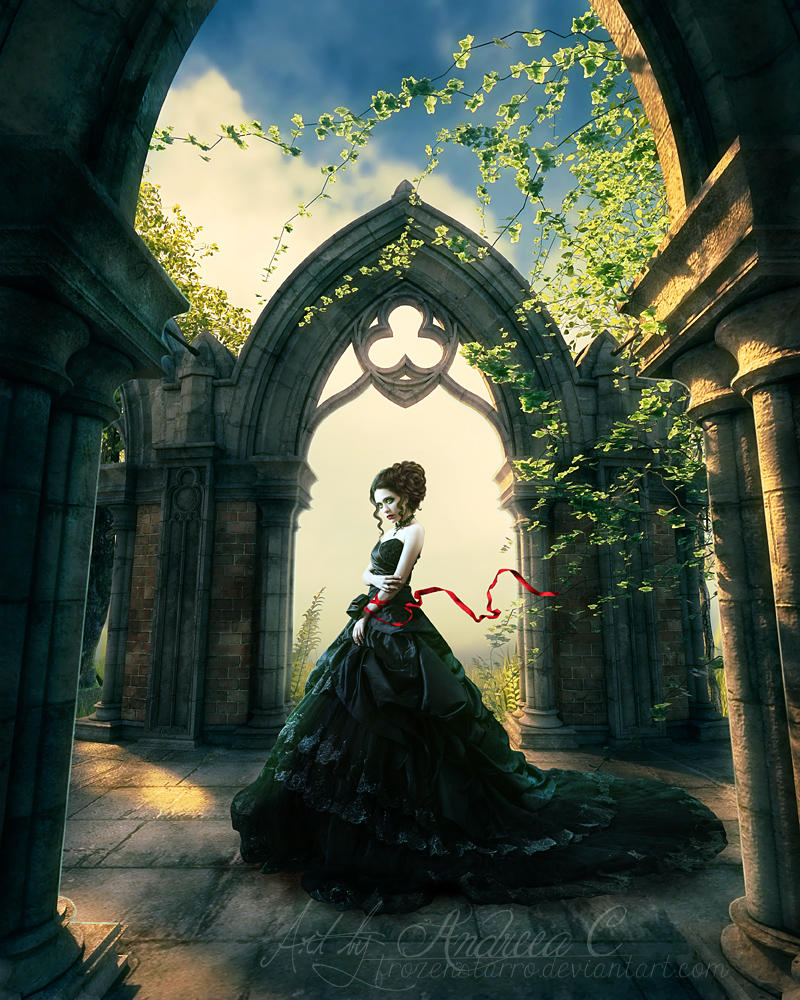 The girl with the red ribbon by FrozenStarRo