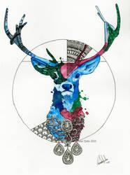 Watercolor Deer by nor-renee