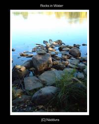 Rocks in Water by Naddura