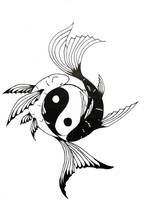 yin-yang and the fish by wearemarshal