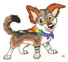 Pride Puppy by SocksTheMutt
