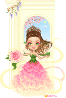 Fairy Esperanza: ballgown in springtime by orenji-seira